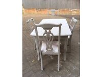 Shabby Chic Table & Chairs Set