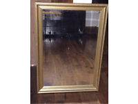 Large mirror gold perfect condition!