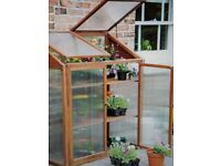 outdoor wooden greenhouse boxed new unused