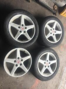 "RSX rims 5x114.3 16"" with 80% winter tires only $300 obo"