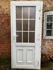 UPVC DOOR FROSTED MULTIPOINT LOCKING PLUS FRAME AND BARREL WITH KEY