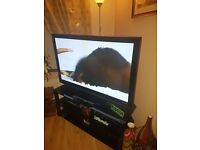 """Panasonic 50"""" plasma TV and stand. Working 100% just thinking of upgrading. £350 for both"""