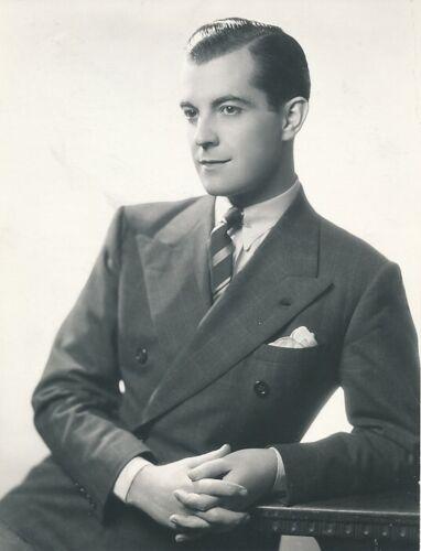 RAMON NOVARRO Handsome Original Vintage 1930s MGM Studio DBW Portrait Photo