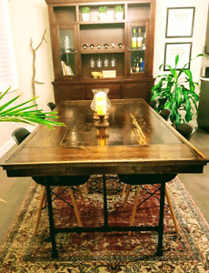 CUSTOM MODERN RUSTIC DINING TABLE