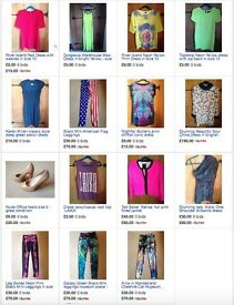 Designer and high street brand womens clothing and shoes - many new/never worn for sale