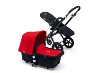 Buggaboo camelon red comes with buggy part and carry cot, raincover two fabric sets.