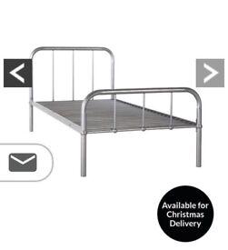 Metal single bed frame No mattress