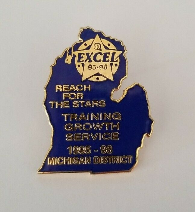 Optimist International 1995-96 Michigan District Excel Lapel Hat Pin Training
