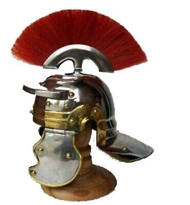 Medieval Roman Centurion Mini Helmet w/ Stand Miniature Helm Xmas New Best Gifts ()