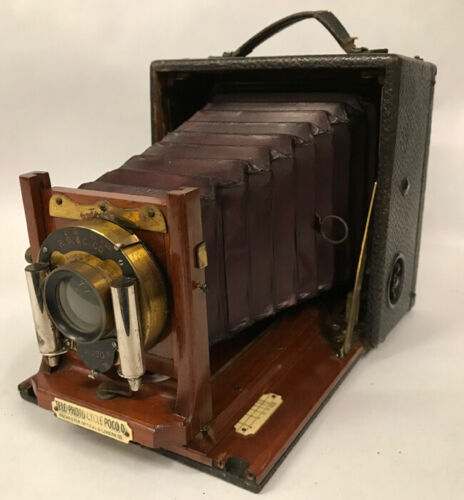 Tele-Photo Cycle Poco D Camera with Original Case, Film Holders, Hood