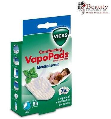 Vicks MENTHOL Vapopads 7 Vapo Pads Children Breathe Easy Comfortable Cold Relief