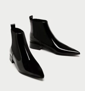 dec284d1c1c Faux patent leather ankle Chelsea boot from Zara