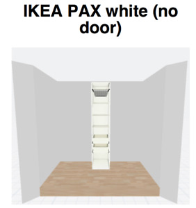 IKEA PAX frame with KOMPLEMENT interior organizers (no door)