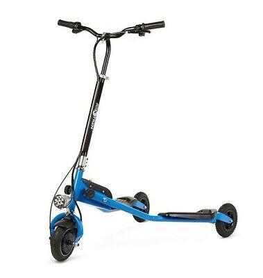 Patinete electrico plegable 250w scooter con 3 ruedas niños niñas azul adultos