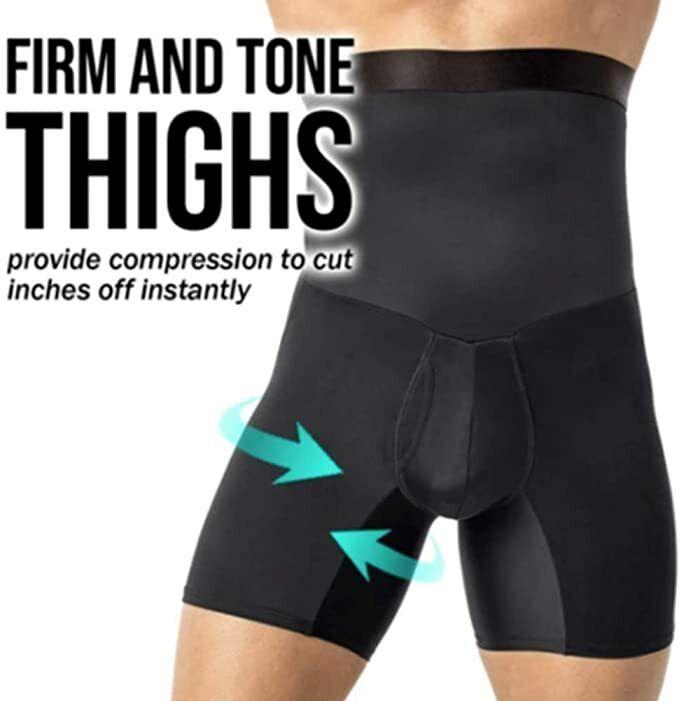 ShaperMen Shaper for Gentlemen,High Waist Compression Tummy Abdomen Slimming Body Shaping Short Pants