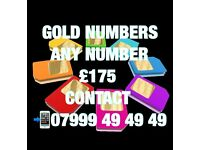 GOLD VIP MOBILE NUMBERS £175