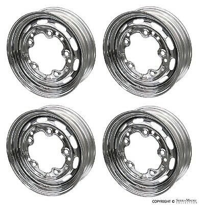 Steel Drum Brake Wheel Set (4), Chrome, 15''x4 1/2'', Porsche 356A/356B (55-63)