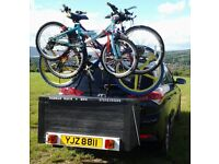 COMBO TOWBAR CARRIER (for) BIKES and STORAGE/CARGO/ CAMPING 270 LTR LOCKABLE BOX.