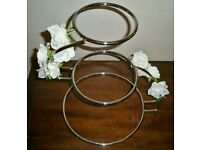 Chrome S Shaped three tier Wedding Cake Stand. Brand new & boxed £25 ono