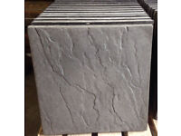Charcoal Riven Paving Slabs