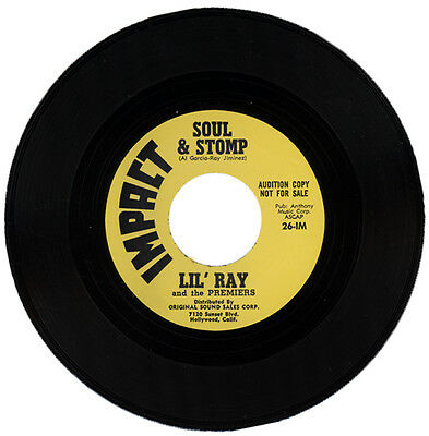 """LIL' RAY (aka RAY JIMINEZ) And The PREMIERS  """"SOUL & STOMP""""  60's R&B LISTEN!"""
