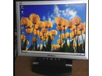"15"" LCD monitor for PC / CCTV SECURITY CAMERA - GOOD CONDITION - DELIVERY"