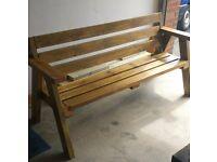 Handmade garden bench