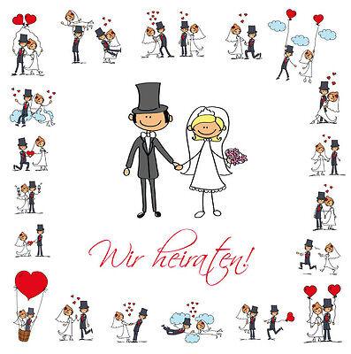 10 Unidad divertidos Invitaciones de boda con Sobres gracioso,texto original en