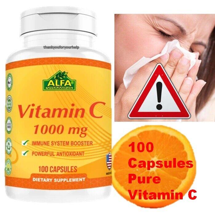 Vitamin C 1000 mg. 100 Capsules / la mejor y original Vitamina C made in USA 4