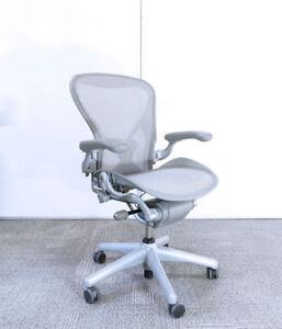 Herman Miller Aeron in Silver for $750