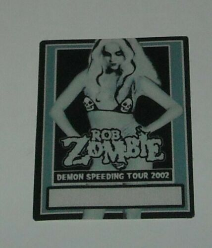 UNUSED OTTO SATIN CONCERT BACKSTAGE PASS ROB ZOMBIE DEMON SPEEDING TOUR 2002