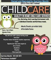 In-home Child Care Available