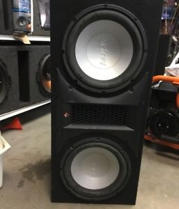 "2 12"" infinity subs/ported box"