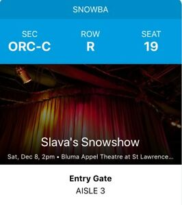 4 tickets to Slava's Snowshow