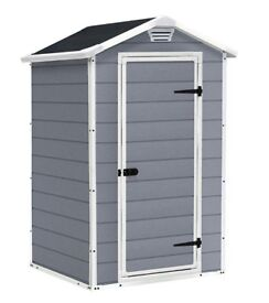 New Keter Manor Garden Storage Shed, 4 x 3 feet FREE DELIVERY + ASSEMBLY