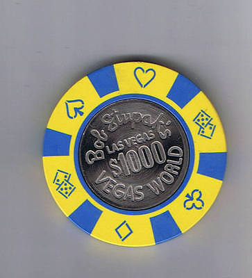 Vegas World  1 000 00 Coin Center Bob Stupak Casino Chip Las Vegas Nevada