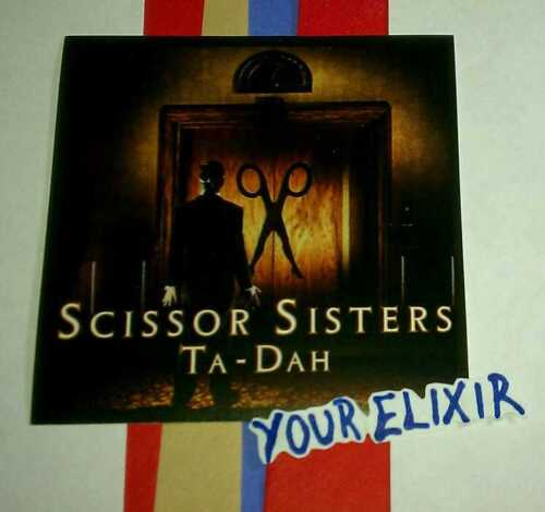 SCISSOR SISTERS TA DAH TA-DAH PHOTO BOARD AMP GUITAR CASE RARE STICKER
