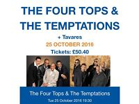 3 x the four tops and temptation tickets TONIGHT