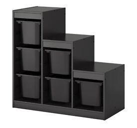 Trofast storage unit from ikea- black- brown