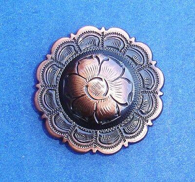hwarz / Kupfer Blumen Concho's 3.8cm (Western-dekor)