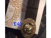 Gold Versace belt with strap