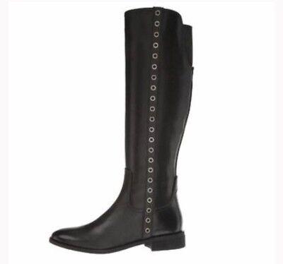 New MICHAEL Michael Kors Dora Black Knee Leather Boot Size 10M - Boot Dora