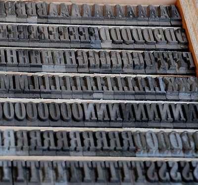 Bleischrift 18mm Bleisatz Buchdruck Alphabet  Bleilettern Alphabet Lettern Blei