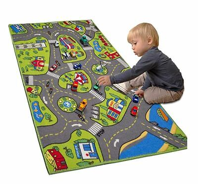 Race Car Track Rug Play Mat For Toddlers Kids Children Boy Carpet Road Toy Floor