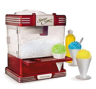 Nostalgia Electrics Retro Electric Snow Cone Maker Shaved Ice Machine Side (Nostalgia Electrics Rsm602 Retro Snow Cone Maker)