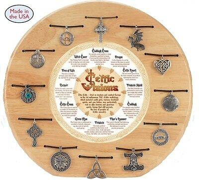 Celtic Visions Necklace Assortment -Celric Values- Made in USA -Lead Free Pewter