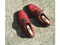 Oxblood Derby shoes made by Alfred Sergeant for John Brocklehurst. Size 9.5.