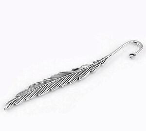 5PCs Silver Tone Feather Bookmarks 11.7cm(4 5/8