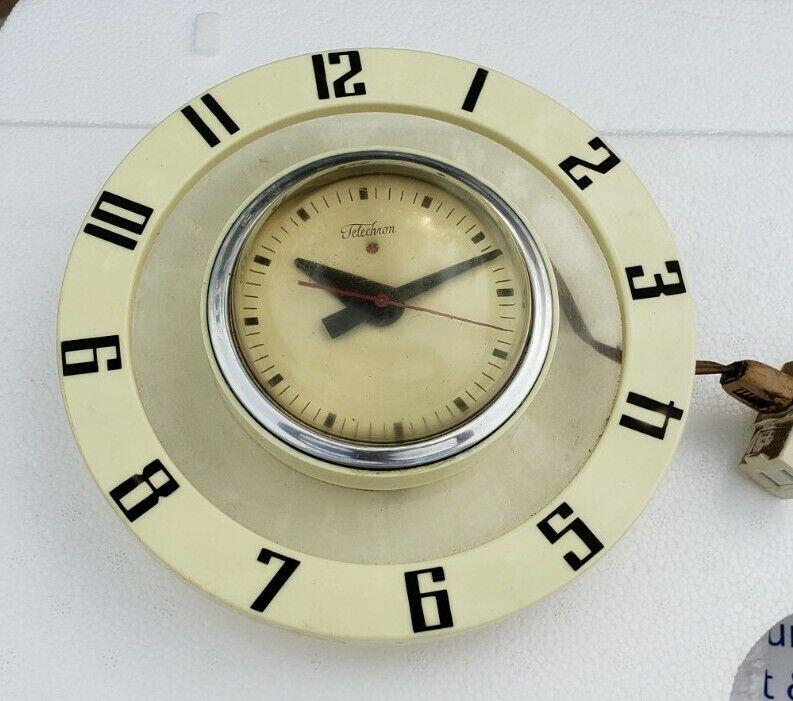 Telechron Mod Mid Century Wall Clock