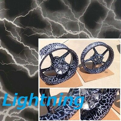 Dipping Hydrographics Film Water Transfer Printing Lightning 19x80 Fast Shippin